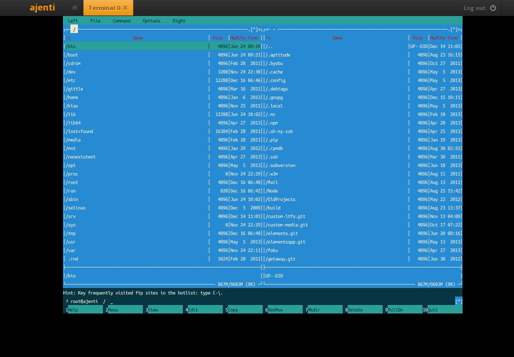 Ajenti Server Admin Panel